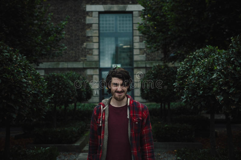 Outdoor portrait of man royalty free stock photo