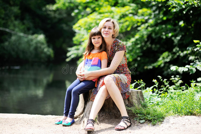 Download Outdoor Portrait Of Mother And Daughter Stock Image - Image: 25761773