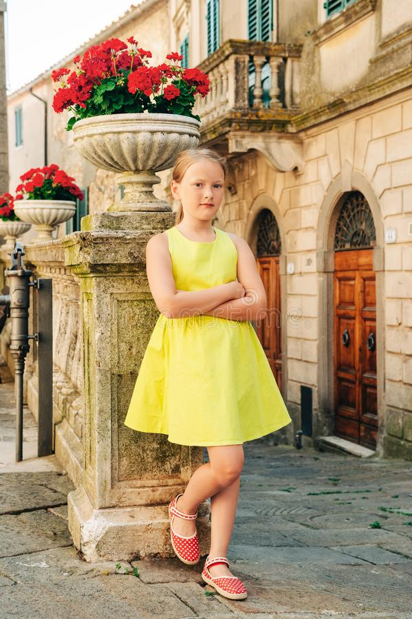 Free Outdoor Portrait Of A Cute Little Girl Of 8 Years Old Stock Image - 140828251