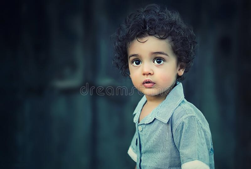 Outdoor portrait of young boy stock photos