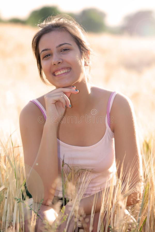 Outdoor portrait young girl royalty free stock photo