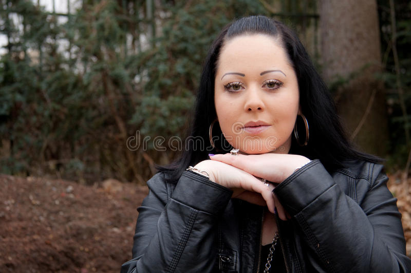 Outdoor Portrait Of A Young Woman Royalty Free Stock Image