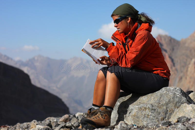 Download Outdoor reading stock image. Image of mountains, rest - 16479377