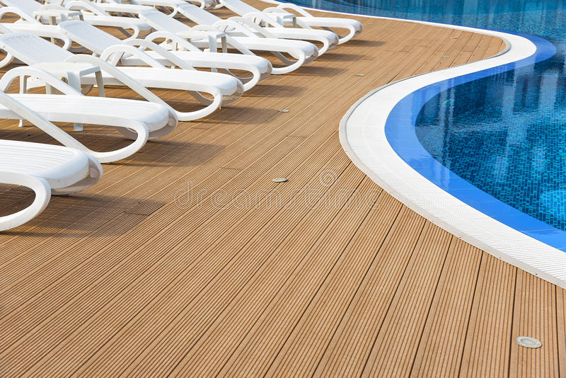 Outdoor resort pool. Outdoor resort swimming pool in Bulgaria hotel stock images