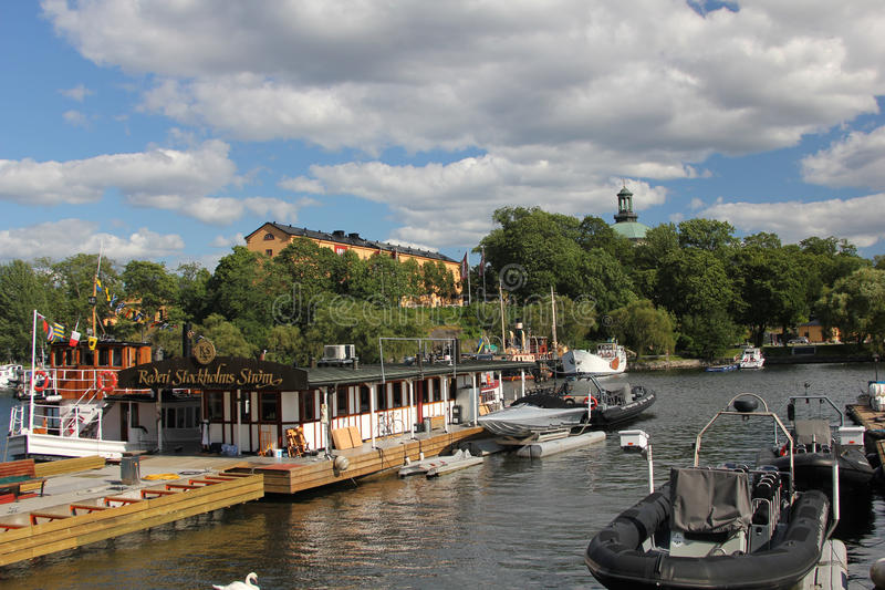 Outdoor restaurant, Stockholm royalty free stock images