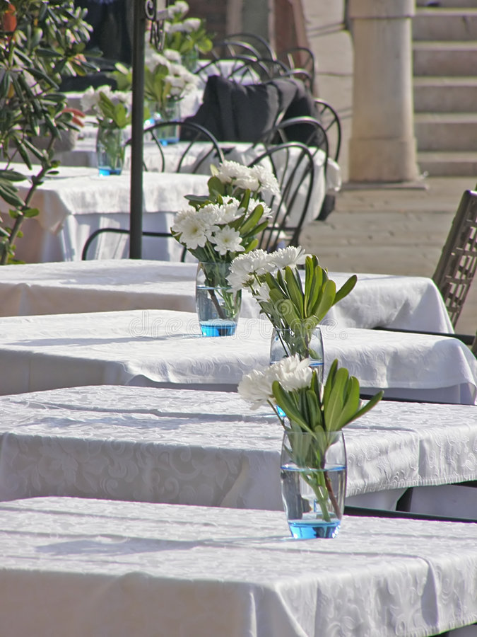 Download Outdoor restaurant tables stock photo. Image of food, cafe - 4285908
