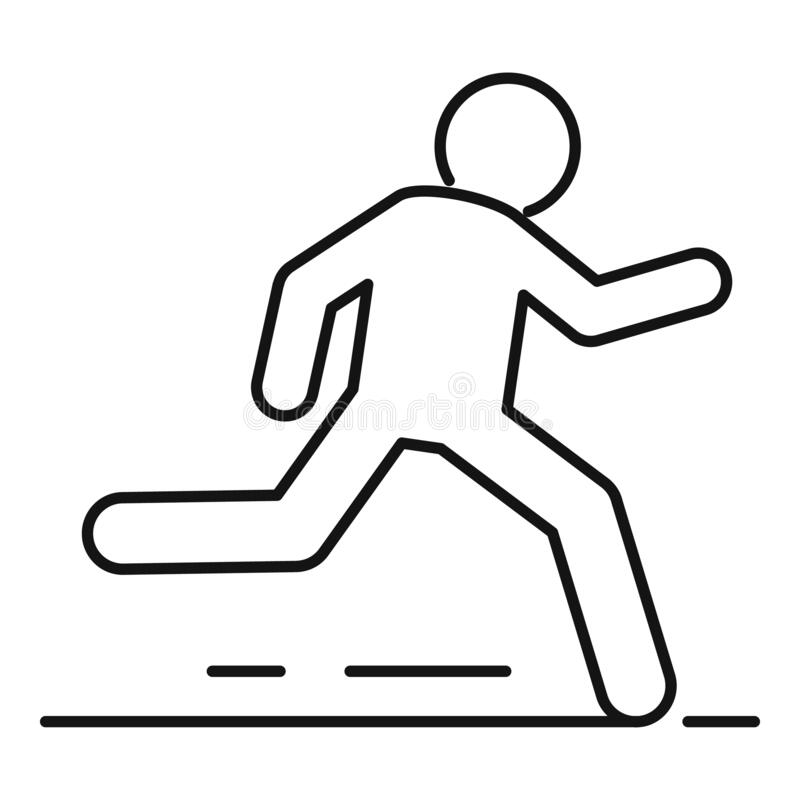 Outdoor running icon, outline style. Outdoor running icon. Outline outdoor running vector icon for web design isolated on white background vector illustration