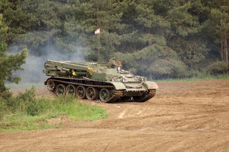 Download Outdoor Scenery With Driving Tank Stock Image - Image: 36546265