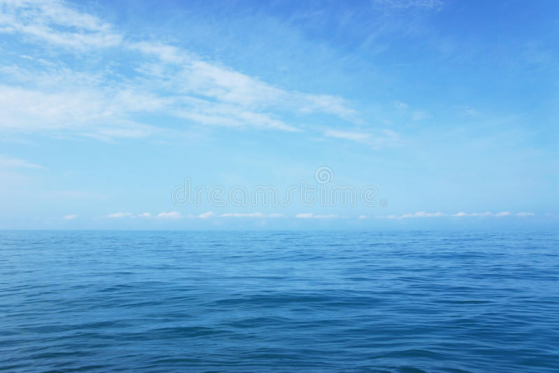 Outdoor seascape in good weather. Wide outdoor seascape in good weather stock photo