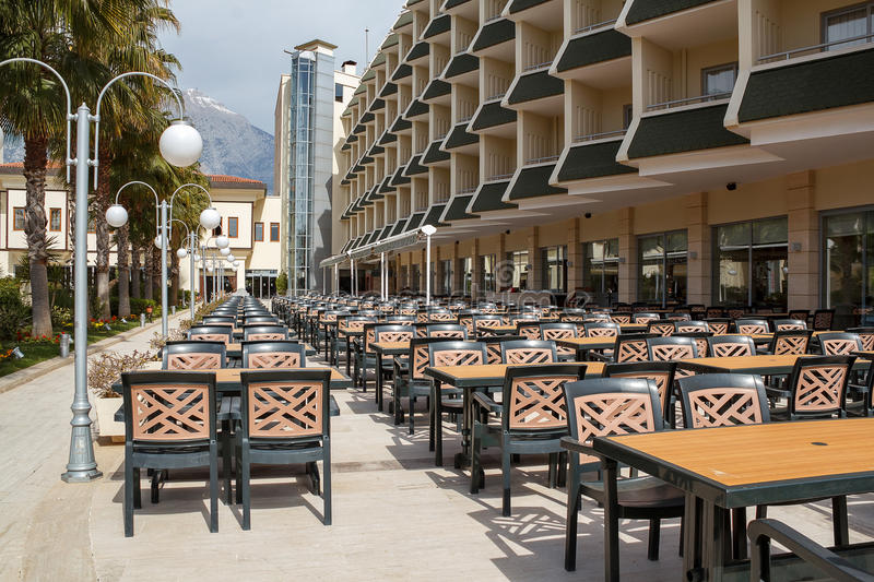 Download Outdoor Seating In Empty Hotel Stock Image - Image: 25371947