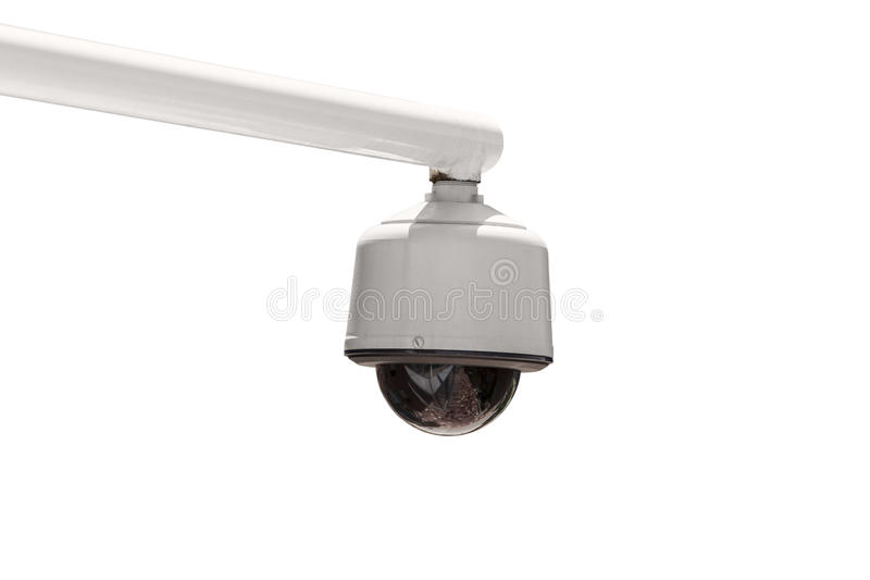 Outdoor Security Camera Isolated royalty free stock image