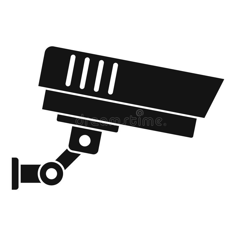 Outdoor security icon, simple style vector illustration