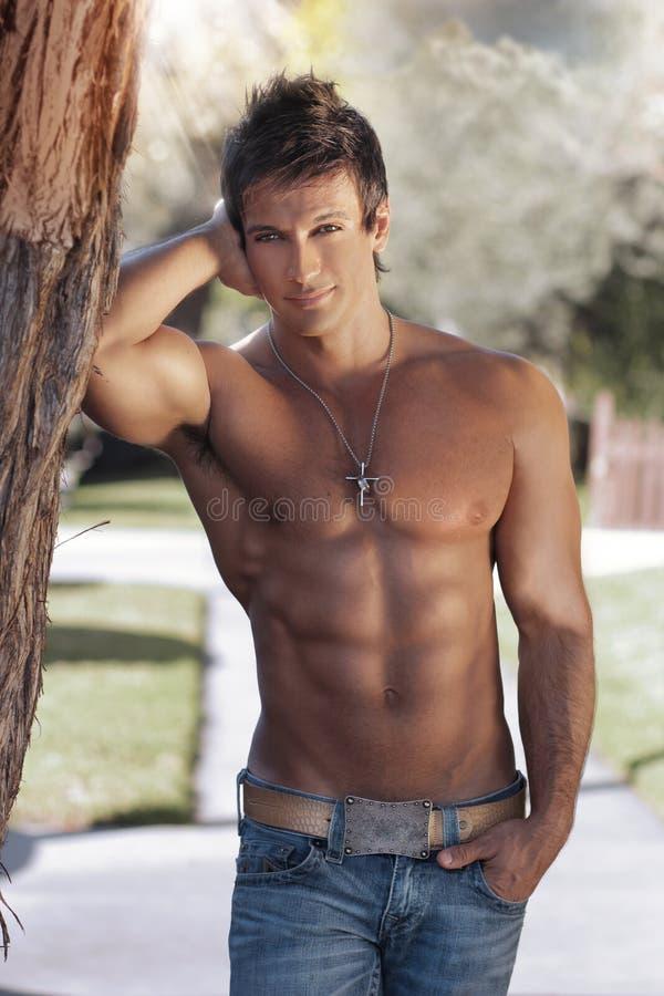Outdoor guy stock photo