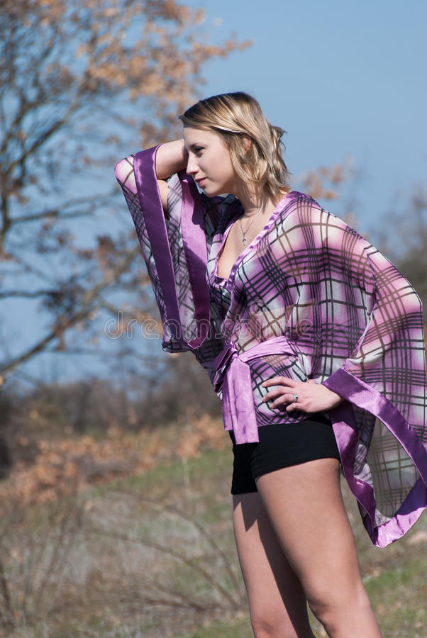 Outdoor shoot for fashion royalty free stock images
