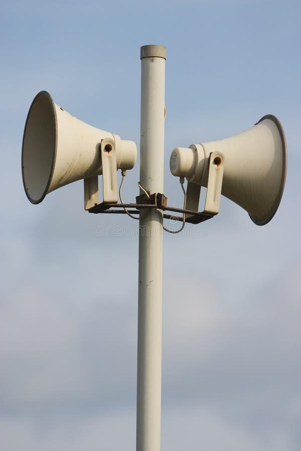 Outdoor siren/loudspeaker system royalty free stock photo