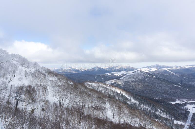 Outdoor snow view. Taken in Janpan stock images