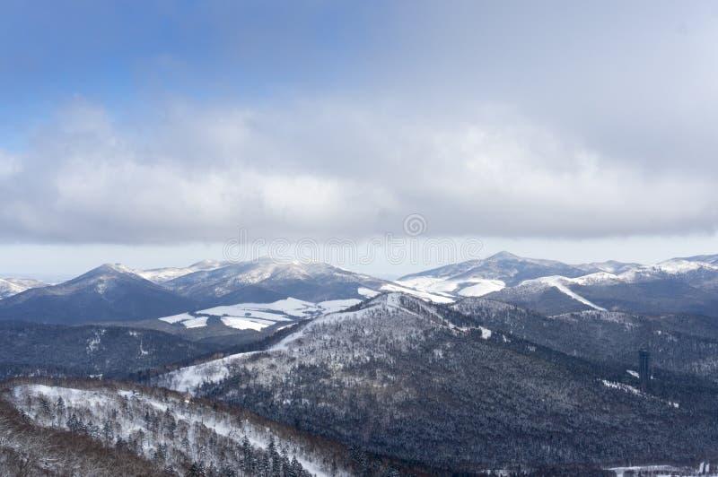 Outdoor snow view. Taken in Janpan royalty free stock image