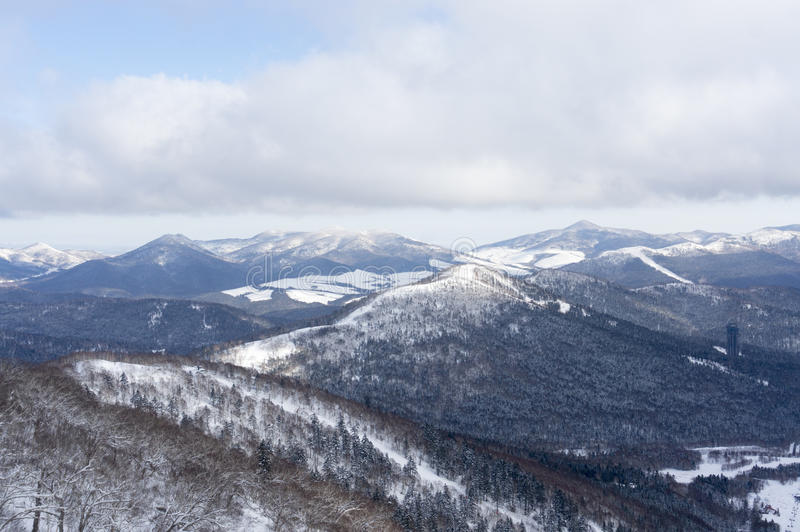 Outdoor snow view. Taken in Janpan royalty free stock photos
