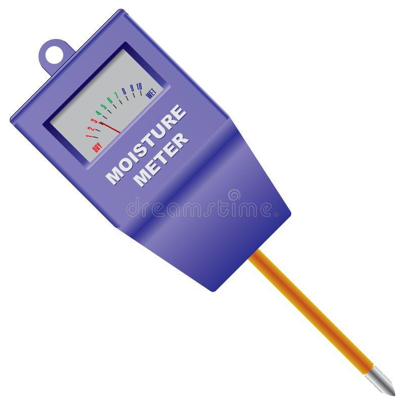 Outdoor Soil Moisture Sensor Meter. Vector illustration royalty free illustration
