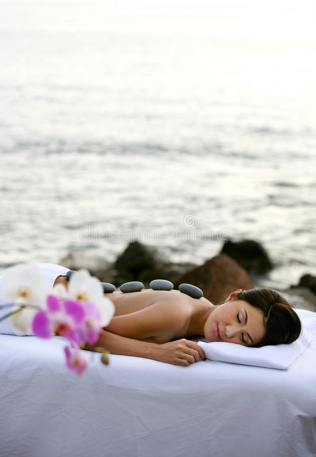 Download Outdoor Spa Therapy stock image. Image of bottle, being - 16705817