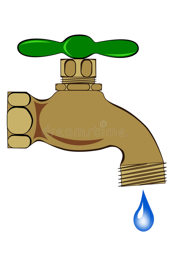 Download Outdoor spigot stock illustration. Illustration of spout - 7350028