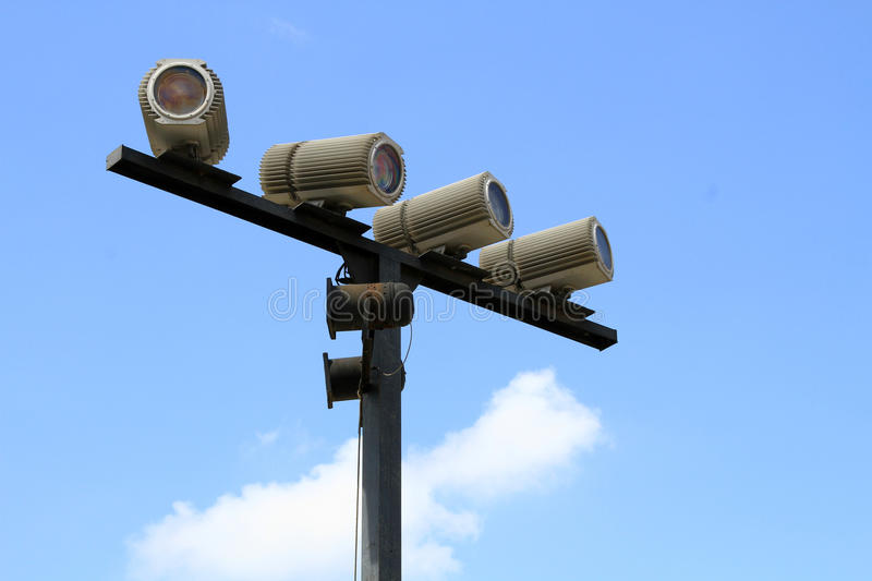 Download Outdoor spot lights stock photo. Image of pole, lights - 26853866
