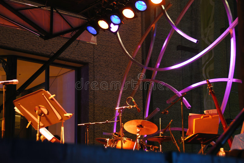 Outdoor stage music royalty free stock photos