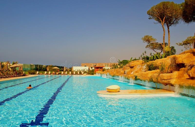 Download Outdoor Swimming Pool In Luxury Hotel Resort Stock Image - Image: 23182809