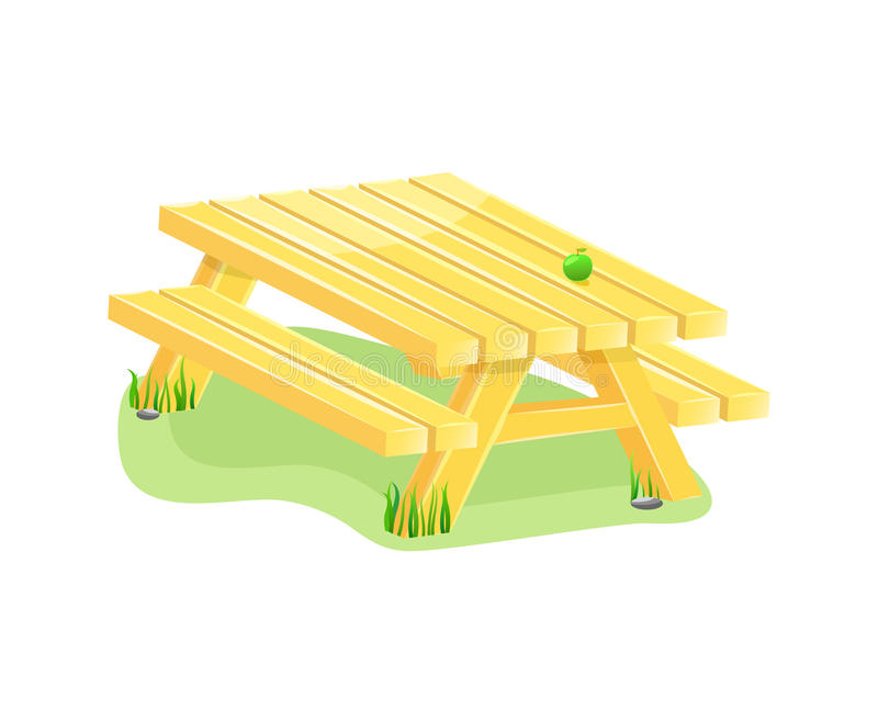 Download Outdoor table with bench stock vector. Image of outdoor - 19512739