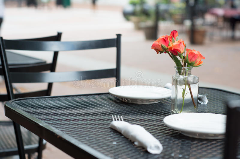Outdoor table stock images
