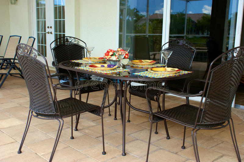 Download Outdoor table for four stock photo. Image of doors, empty - 14551238