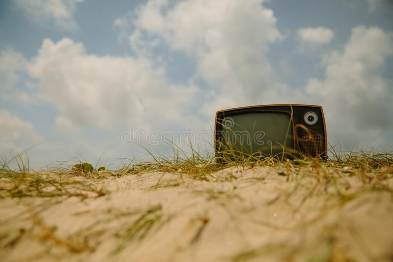 Outdoor Television royalty free stock photos