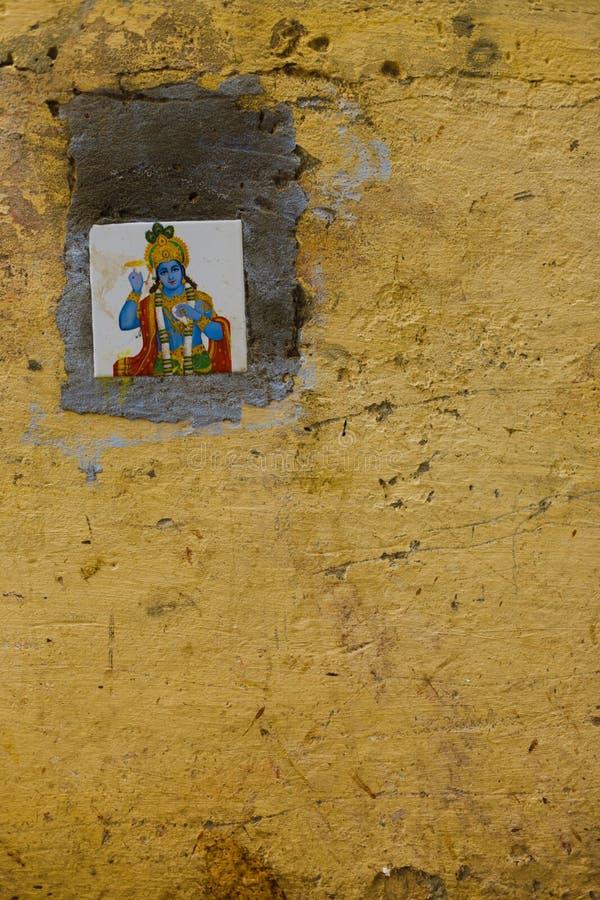 Glazed Tile God Vishnu Outdoor Wall Decoration Stock Photo - Image ...