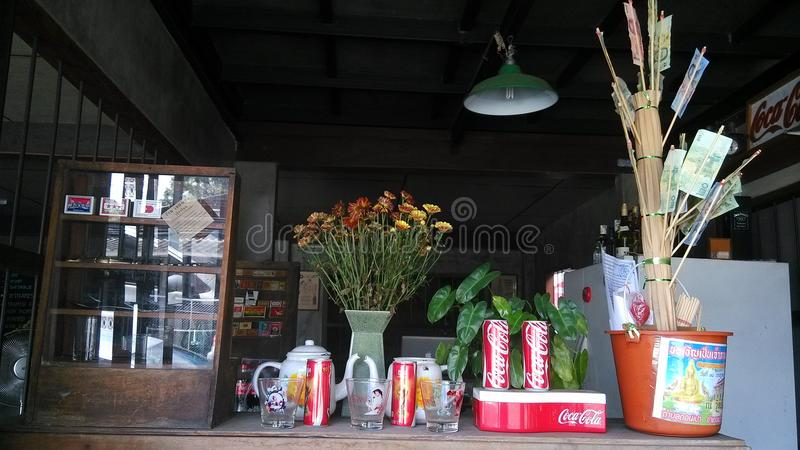 In outdoor Thai restaurant royalty free stock photos