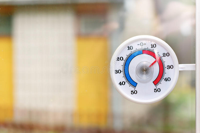 Download Outdoor thermometer stock image. Image of thermometer - 24665009