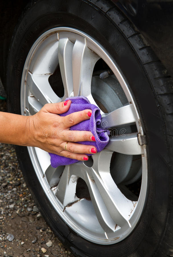 Download Outdoor Tire Car Wash With  Sponge Stock Photo - Image of screen, foam: 32875362