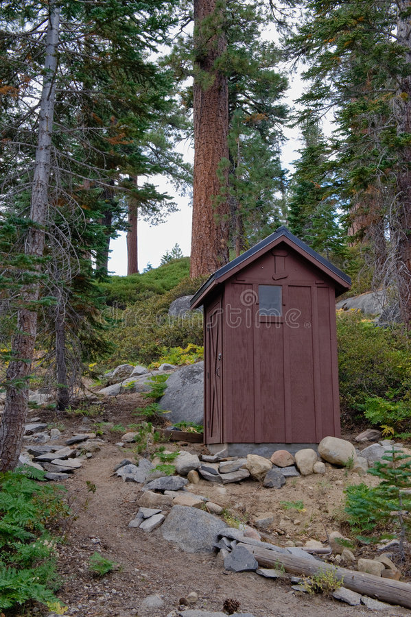Download Outdoor toilet in forest stock image. Image of single - 7219101