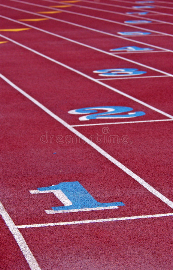 Outdoor Track Royalty Free Stock Photography