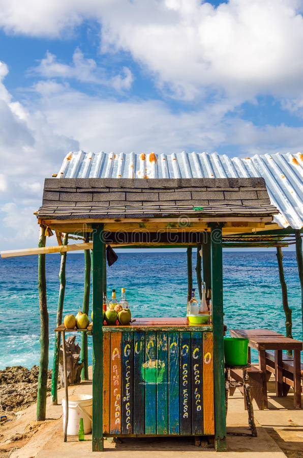 Download Outdoor Tropical Bar stock image. Image of island, coconut - 28669327