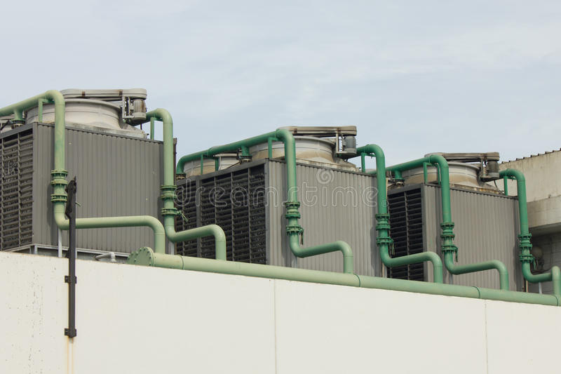 Outdoor Unit of Air Conditioner royalty free stock photo