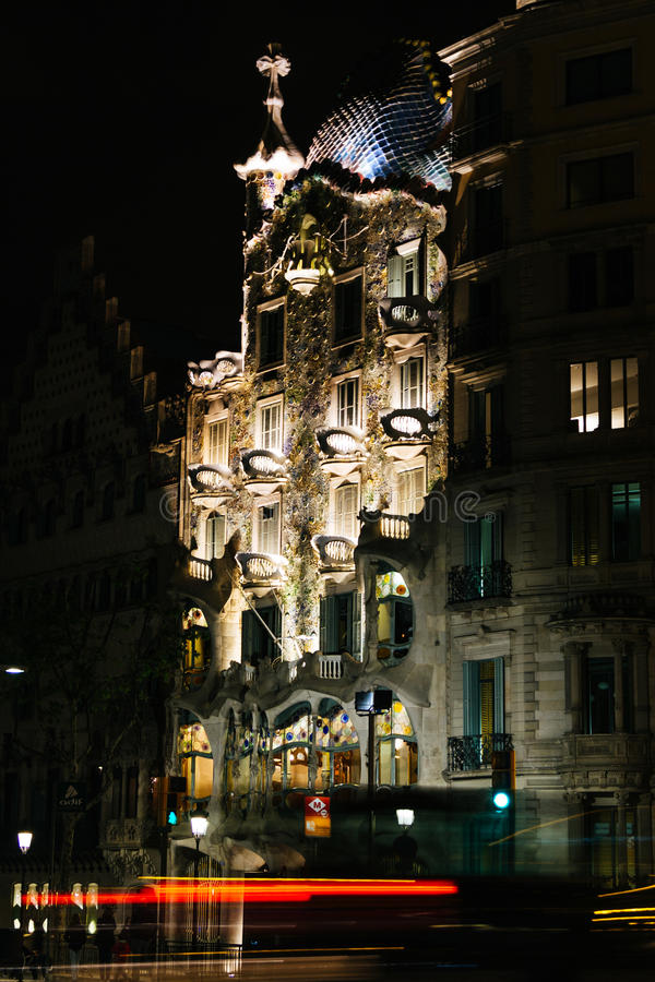 Download Outdoor View Of Casa Batlo Built By Antoni Gaudi Editorial Stock Image - Image: 83723454