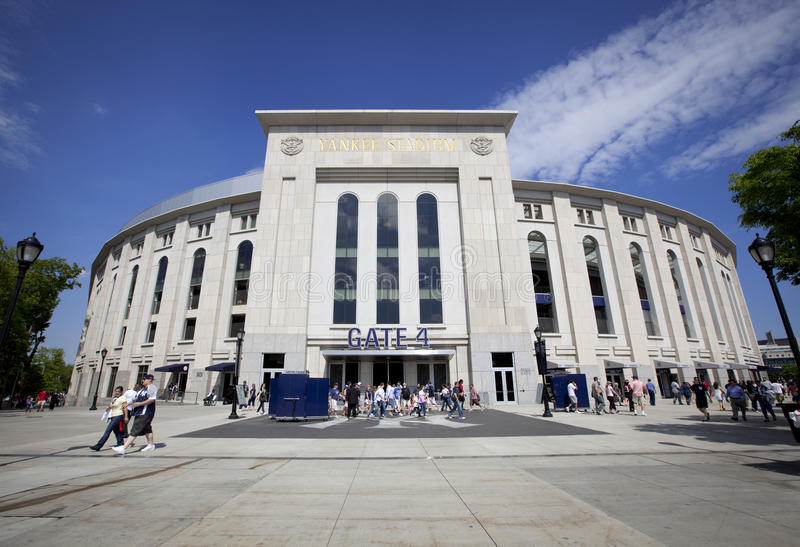 Outdoor View of Yankee Stadium royalty free stock photography