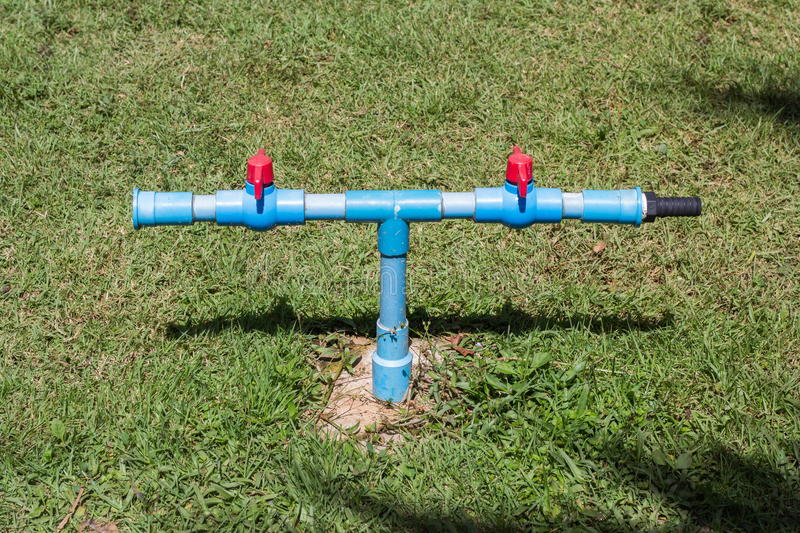 Outdoor water faucet spigot royalty free stock image