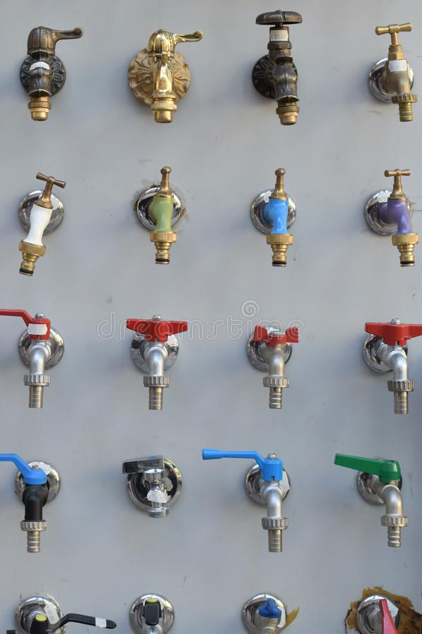 Outdoor water faucets stock photography