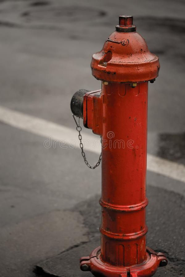 Outdoor Water Hydrant Or Fire Hydrant. A fire hydrant, also called a fireplug, fire pump is a connection point by which firefighters can tap into a water supply royalty free stock photography