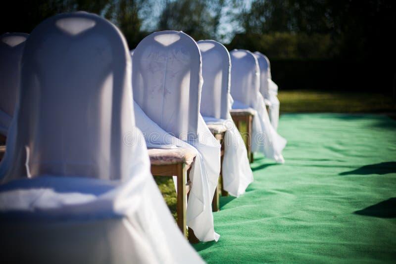 Outdoor Wedding Decoration Stock Image