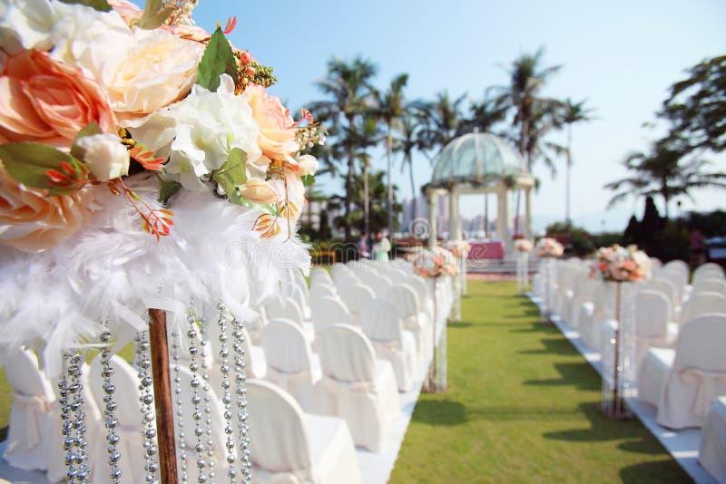 Outdoor wedding royalty free stock photos