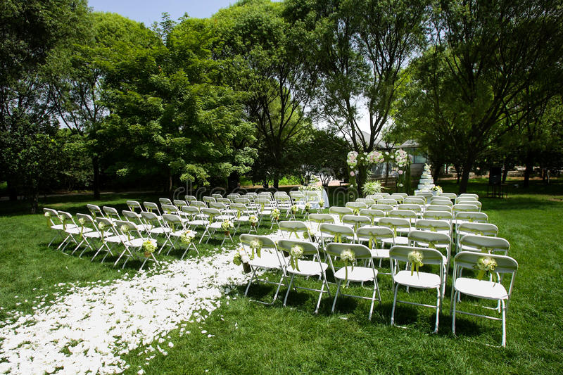 Download Outdoor wedding Scene stock photo. Image of flower, celebration - 29685296