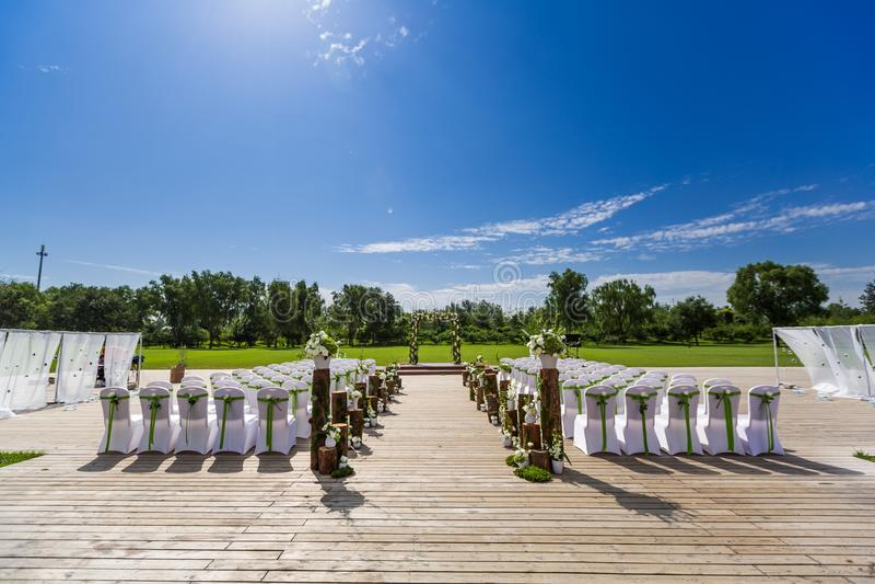 Download Outdoor wedding Scene stock photo. Image of delicate - 34395296
