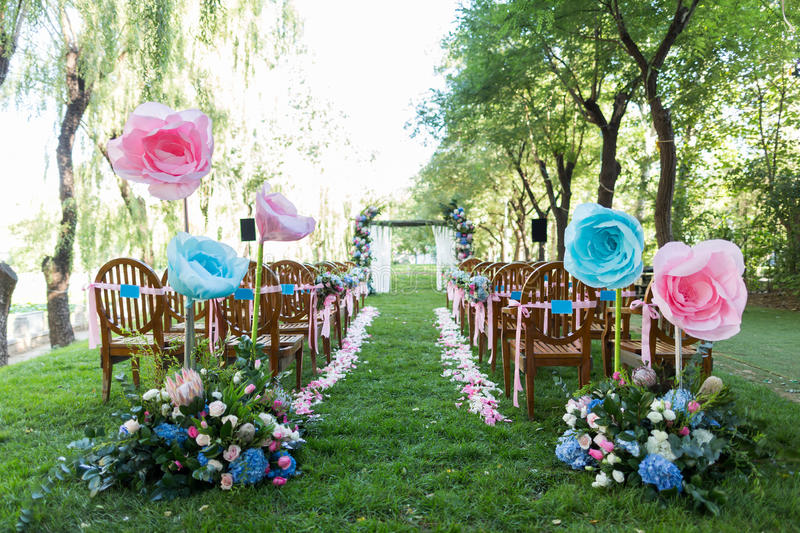 Outdoor wedding Scene royalty free stock images